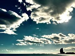 """Mar"" (atempviatja) Tags: mar agua cielo nubes horizonte"
