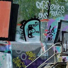Graffiti Trackside (oerendhard1) Tags: street urban art graffiti rotterdam ominous vandalism traintrack trackside omin