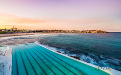 Overlooking Bondi Beach (silardtoth) Tags: ocean travel blue sea summer vacation sun holiday hot tourism beach water pool bondi sunshine swimming landscape coast sand waves sydney australian australia tourists recreation iceberg relaxation icebergs rockpool