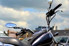 Clear Sky Rides (Tom Shearsmith Photography) Tags: street sky reflection bike skyline modern photography drive ride streetlife reflect vehicle motor hull tone hdr humber fruitmarket tonemap