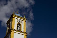 Tower/Torre (Raoni Coriolano) Tags: trip travel brazil tower clock sc church clouds barco torre religion bluesky cu igreja viagem nuvens relgio passeio religio f joinville igrejacatlica fotografoemfortaleza