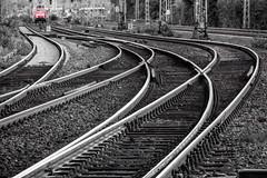Curves & Switches (ToDoe) Tags: red bw switch curves tracks railway loco db 111 locomotive deutschebahn curve bahn switches gleise lokomotive kurve lok reddot schienen baureihe baureihe111 germanrailway