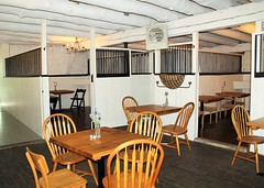 Ladew Gardens Cafe ~ stable ambiance (karma (Karen)) Tags: gardens chairs maryland tables monkton cafes stables ladewtopiarygardens nrhp harfordco