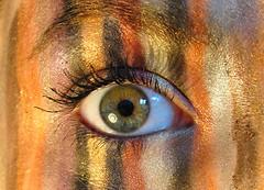 Not all stripes comes naturally (aliademant) Tags: macro eye colors nikon d stripes eyeshadow 90 mondays
