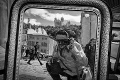 Dorian Grey's Self-Portrait... (YVON B) Tags: street selfportrait lyon life landscape monochrome fuji france blackwhite xpro2
