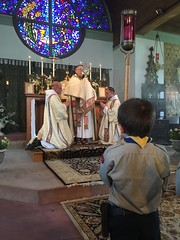 Benediction on Corpus Christi Sunday (Lawrence OP) Tags: eucharist benediction monstrance fne crnj scoutsofeurope
