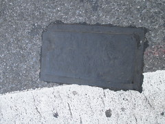 Fresh New Toynbee Tile Under Tar 2016 NYC 1217 (Brechtbug) Tags: street new york 2001 city nyc white streets west up june st by tile dead idea bars cross traffic walk manhattan under pedestrian pop fresh severino midtown made tiles ave planet ready commuter jupiter kubricks patch avenue toynbee named verna 6th tar crumbling 35th sevy possibly reclusive 2016 resurrect philadelphian 06142016