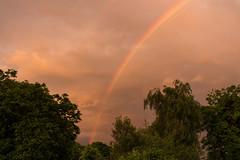 Sunset rainbow (Graham Dash) Tags: weather clouds sunsets rainbows rainclouds 2016pad