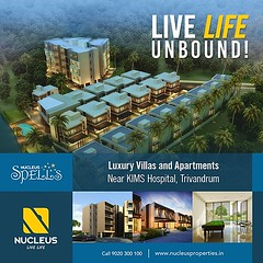 Live Life in Style at Nucleus Spells - Luxury Apartments and Villas near KIMS Hospital, Trivandrum.  Visit us on www.nucleusproperties.in  #Kerala #Kochi #India #Trivandrum #Architecture #Home #Construction #City #Elegance #Environment #Elegant #Building (nucleusproperties) Tags: life city india building home nature beautiful beauty architecture design living construction realestate view apartment interior gorgeous lifestyle style atmosphere kerala villa environment elegant exquisite comfort luxury kochi trivandrum elegance