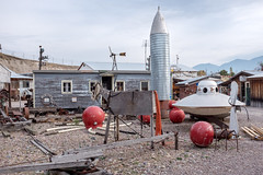 Miracle of American Museum (flippers) Tags: old usa museum america vintage weird us junk montana unitedstates donkey retro american rocket spaceship flyingsaucer scrap oldfashioned polson miracleofamericanmuseum