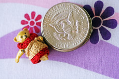Macro Mondays Smaller Than A Coin (sarahellenspringer) Tags: bear silver toy coin round macromondays smallerthanacoin