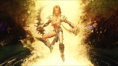 TESV - Jump into action (tend2it) Tags: kenb elder scrolls skyrim v rpg game pc ps3 xbox screenshot sweetfx enb krista demonica race sg lilith 161 felicia silverlight armor wargaive weapons duel wield waterfall evil lair hydra