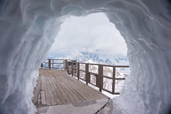 ice tunnel (sabrandt) Tags: mountain snow france europe chamonix frenchalps aiguilledumidi montblancmassif snowtunnel montblan