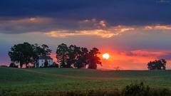 summer sunrise (loco's photos) Tags: dfa28105 k1 pentax clouds dawn farm farmhouse fence field landscape morning pixelshift sky sun sunrise trees