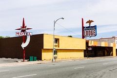Americana (melfoody) Tags: old urban history architecture america neon motel retro signage americana roadside quaint