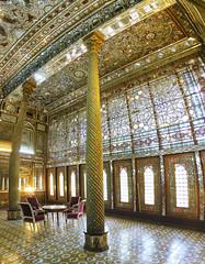 Golestan Palace. Tehran. Iran (alba-7) Tags: architecture canon arquitectura iran interior indoor palace column tehran teheran palacio irn golestan s120