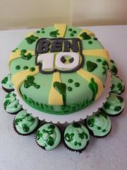 ben ten cake (Divine Cakes Iloilo) Tags: birthday cake cupcakes ben 10 ten fondant