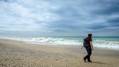 Toetoes Bay - nobody else here (Kathrin & Stefan) Tags: ocean sky cloud beach nature water bay outdoor wave pebble tasmansea foveauxstrait kathrinmarks toetoesbay