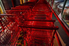 Shopping Carts. (parmo) Tags: red color car carparts cart westnewton