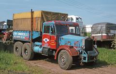 Unident. Albion 3-axle Breakdown truck at Doune. Jun'83. (David Christie 14) Tags: lorry albion doune