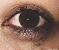 [eye] (moschettiphotography) Tags: people eye saturated london ny nikon cry mascara mess black pale white eyelashes sad colors art artsy love life street photography amateur lovely