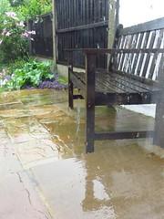 Wet Bench Monday (Pat's_photos) Tags: garden bench rain hbm