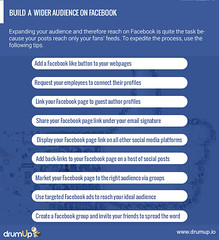 Building an audience on Facebook (Social Media & Content Curation Platform) Tags: marketing media internet content social monitor guide employee facebook analytics advocacy infograph drumup employeeadvocacy