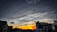 DSC00115_HDR (fahd.b.iqbal) Tags: blue sunset sky tree green birds yellow clouds landscape photography sony dhaka alpha bangladesh hdr gulshan hdrphotography a6300