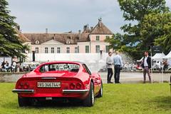 Dino rosso (NaPCo74) Tags: de switzerland 1974 dino geneve swiss ferrari enzo gt chateau concours rosso genve maranello coppet 246 cavallino cavalino suiss dlgance