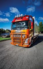 mikaelnilsson-volvofh4-highway-topbar_9641 (truxab) Tags: red orange highway naranja röd trux topbar lacquered a162 g164 mikaelnilsson lackerad volvofh4globxl truxab
