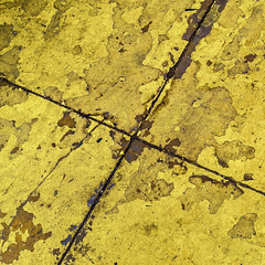 not-so-mellow yellow (MyArtistSoul) Tags: venturaca yellow grungy x groove decay decrepit wear flakey peeling delaminating urban abstract minimal square iphone4