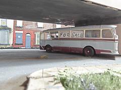 Unloved, For Sale. (ManOfYorkshire) Tags: 12302 harrington grenadier coach bus efe diecast 176 scale oogauge flyover 1992 halifax greycars devon forsale unloved detailed weathered