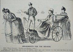 Amusements for the Sea-side!  - Punch 1873 (AndyBrii) Tags: woodcuts satire punch wit cartoons engravings 1873
