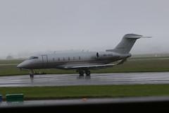 9H-VCG parked. (aitch tee) Tags: wet weather aircraft challenger bombardier bizjet walesuk cardiffairport maesawyrcaerdydd cwlegff signatureaircrafthandling parkedonthecambrian 9hvcg