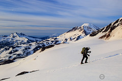 Climber (Dan Sherman) Tags: people snow oregon us unitedstates northwest faith extreme mountainclimbing alpine cascades threesisters mountaineering pacificnorthwest climber pnw epic rugged brokentop snowclimbing southsister cascademountains mtbachelor middlesister oregoncascades alpineclimbing iceax cascadevolcano