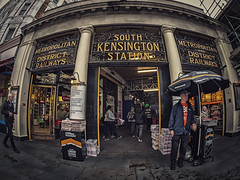 South Ken Tube (Mike Hewson) Tags: street city urban london station underground lumix town metro tube fisheye panasonic londonunderground southkensington 75mm gx8 streetsoflondon photo24 samyang mirrorless micro43 microfourthirds