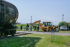 Road repair-1 (algimantas_tirlikas) Tags: work landscape spring outdoor pipe pipeline rafinery