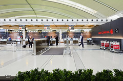 Premium Check-in Counters (A. Wee) Tags: toronto canada airport counter pearson yyz checkin businessclass aircanada