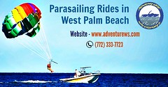 Safe Parasailing Rides in West Palm Beach (adventurews) Tags: vacation waterskiing wakeboarding watersports rivercruise boattour boatcharter