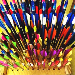 365Project - day 182/366 (jenwuk) Tags: arrows 365 colourful archery flights 365project fletches