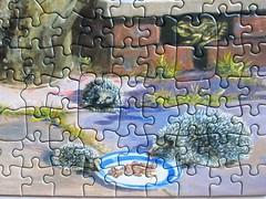 Garden Visitors (Bernard Willington) (Leonisha) Tags: puzzle jigsawpuzzle hedgehogs igel