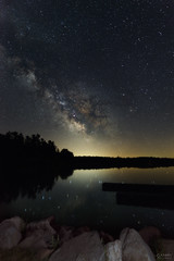 Milky Way Core at Long Lake (www.adamcimages.com) Tags: road light sky ontario canada night dark way stars high nikon highway space south low full iso galaxy frame planets dslr milky frontenac d800