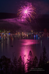 Pink is my Favorite Color - Bass Lake (Darvin Atkeson) Tags: california light lake snow mountains reflection water rain forest day glow fireworks bass nevada 4th july sierra pines shore independence 4thofjuly basslake oakhurst elnino 2016 darvin atkeson darv lynneal yosemitelandscapescom