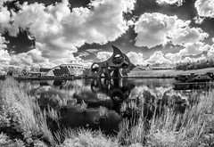 Falkirk Wheel (Scotland in Infrared) Tags: canal wheel scotland infrared alpha conversion union ir engineering sony falkirk 100 clyde forth
