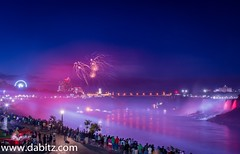 Niagara Falls Fireworks (Dabitz.com) Tags: longexposure nightphotography bridge canada night river niagarafalls waterfall nikon fireworks canadaday americanfalls indepenceday placestovisit nikonphotography nikond750