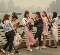 Friends (stevefge) Tags: bund china shanghai people street candid reflectyourworld girls