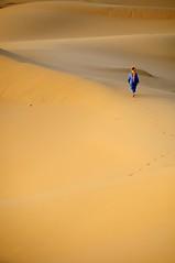 Just a little walk (ganagafoto) Tags: africa yellow sand travels desert dunes dune morocco berber giallo marocco viaggi deserto sabbia merzouga berbero ganagafoto cammelliere
