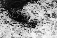 Sea (gunn13) Tags: ocean uk greatbritain trip travel sea summer blackandwhite white black water rain ferry digital bay scotland clyde boat blackwhite spring nikon waves sailing unitedkingdom harbour britain gb calmac brodick arran splashing ardrossan d5000 nikond5000