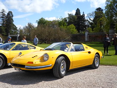 Ferrari 246 GTS Dino (George Matthews) Tags: uk house cars sports car yellow george dino super ferrari exotic rare matthews supercars gts cliveden 246 pistonheads 2013 supercarsuk