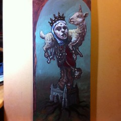 Goddess Shepard. In progress, lots to do but making some headway. #wip #sundaynightpainting #oilpainting #art #cajashow #caja #teod #teodtomlinson #painting #laartist #laart #crown #magic #unicorn (Teod Tomlinson) Tags: art birds painting toys gallery surreal pop oil expressionist raven hive tool impressionist juxtapoz the